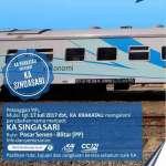 Mulai 17 Juli 2017 KA Krakatau Menjadi KA Singasari