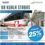 Jadwal dan Harga Tiket KA Kuala Stabas Baturaja Tanjungkarang