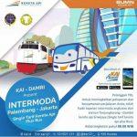 Kereta Palembang Jakarta Dengan Intermoda Kereta Api dan Bus