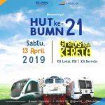 Naik KA Lokal Gratis Dalam Rangka HUT BUMN