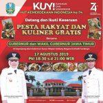 Pesta Rakyat dan Kuliner Gratis Bersama Gubernur dan Wagub Jatim