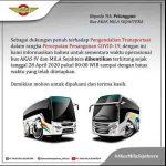 Bus Akas 4 dan Mila Sejahtera Tidak Beroperasi 1-8 Juni 2020