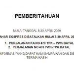 KA Lokal Purwakarta Batal Jalan 1-31 Agustus 2020