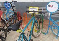 Parkir Sepeda di Stasiun KRL