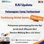 Naik Turun Penumpang KA Jarak Jauh Stasiun Malang Dilayani Dari Stasiun Malang Baru Sisi Timur