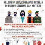 Mulai 12 Juli 2021 KRL Hanya Untuk Pekerja Esensial dan Kritikal
